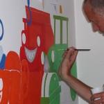 2007 bob de bouwer, muurschildering funs lemmens, marfan