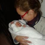 Myrthe met Eef baby